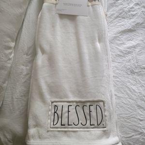 "Rae Dunn Throw ""Blessed"""